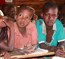 Masai children in School by Maureen Clark