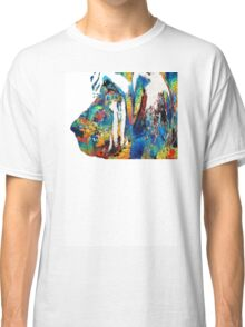Colorful Bloodhound Dog Art By Sharon Cummings Classic T-Shirt