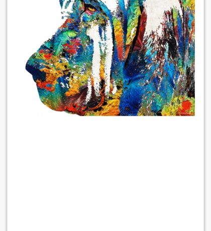 Colorful Bloodhound Dog Art By Sharon Cummings Sticker