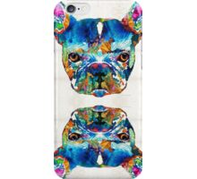 Colorful French Bulldog Dog Art By Sharon Cummings iPhone Case/Skin
