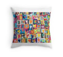 Hundreds of Happy Hearts Throw Pillow