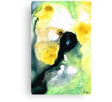 Yellow And Green Abstract Art - Into The Light - Sharon Cummings Canvas Print