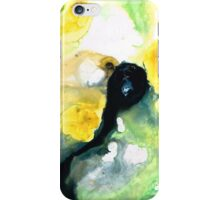 Yellow And Green Abstract Art - Into The Light - Sharon Cummings iPhone Case/Skin