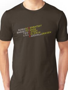 How I Met Your Mother Cast Line-Up Unisex T-Shirt