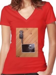 Miles Thomas & The RVs Women's Fitted V-Neck T-Shirt