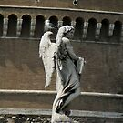angel and friend on Ponte Saint Angelo, Rome by BronReid