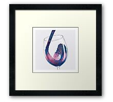 Cosmic Viscosity Framed Print