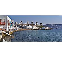 The Famous Windmills of Mykonos Photographic Print