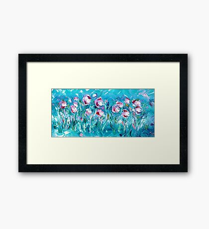 WATER FLOWERS FOR NEIL,  by Janai-Ami Framed Print