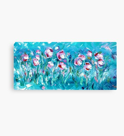WATER FLOWERS FOR NEIL,  by Janai-Ami Canvas Print