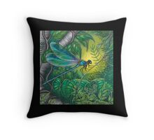 """Dragonfly Dreaming"" Throw Pillow"