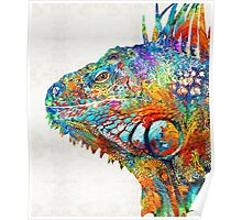 Colorful Iguana Art - One Cool Dude - Sharon Cummings Poster