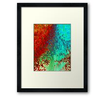 Abstract 4 - Colorful Red Abstract Art Print Framed Print
