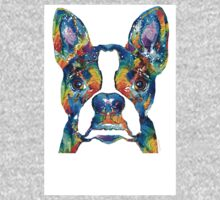 Colorful Boston Terrier Dog Pop Art - Sharon Cummings One Piece - Long Sleeve