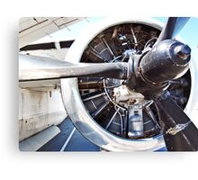 """Prop Engine on a """"Stoof"""" WWII Navy Bomber Canvas Print"""