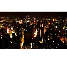Hong Kong Nighttime Cityscape Photographic Print