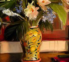 Tropical flowers by Susana Weber