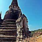 Buddhist Chedis at Wat Si Sanphet by Cody McKibben