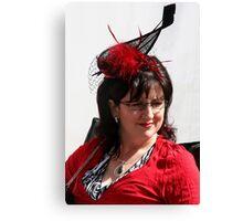 Black & Red Hat Canvas Print