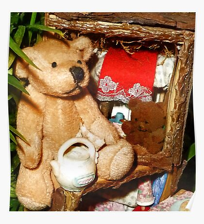 Teddies in a Tree House Poster