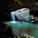Natural Bridge! At the bottom of the chasm. Winter, Qld. by Rita Blom