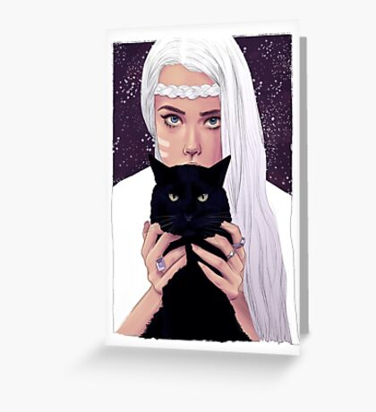 She had Stars in Her Eyes Greeting Card