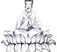 KUAN YIN - Bodhisattva of Love & Compassion by whittyart