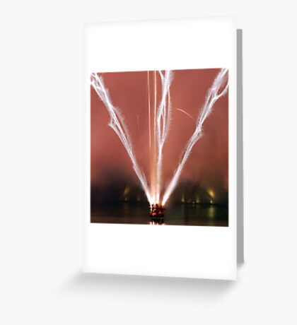 Fireworks display - Lines of fire Greeting Card