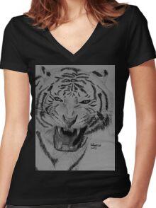 Rawr ! Women's Fitted V-Neck T-Shirt