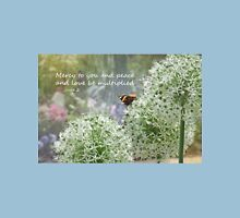 Allium flowers with butterfly and Bible verse of Jude 2 T-Shirt
