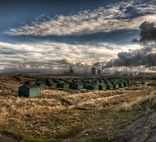 Fishermans Huts ~ South Gare ~ UK by WhartonWizard