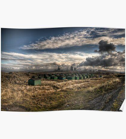 Fishermans Huts ~ South Gare ~ UK Poster