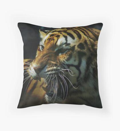 Snarling Tiger  Throw Pillow