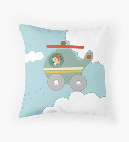 H is for Helicopter Throw Pillow