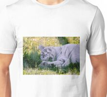 Sleeping White Tiger Unisex T-Shirt