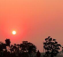 Setting Sun over Calcutta by Braedene