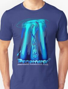 Freediving with Penetrator fins Unisex T-Shirt