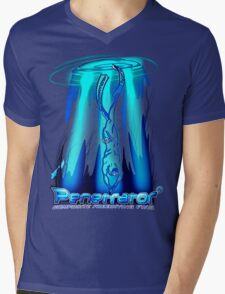 Freediving with Penetrator fins Mens V-Neck T-Shirt