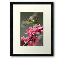 Hope, Faith, Strength; Wat Garden La Mirada, CA USA Framed Print
