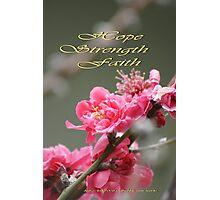 Hope, Faith, Strength; Wat Garden La Mirada, CA USA Photographic Print