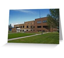 Lincoln County Montana Court House Greeting Card
