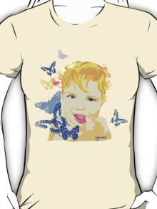 Cute Baby with Dark Blue Eyes T-Shirt
