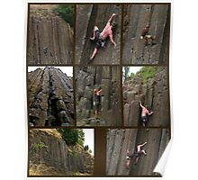 Climbing the Columns on Skinner Butte Poster