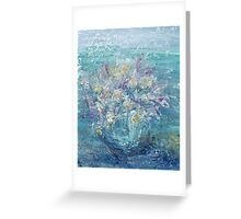 CONTINUOUS AS THE STARS THAT SHINE  by Janai-Ami Greeting Card