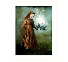 Shining light Art Print