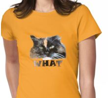 Cattitude T Womens Fitted T-Shirt