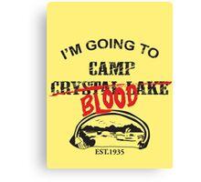 Camp Blood Canvas Print