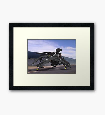 HX-32 Dragon AI Framed Print