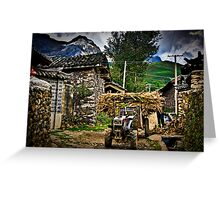 Rural China Greeting Card