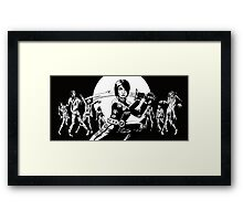 Xtianna the Zombie Slayer Framed Print